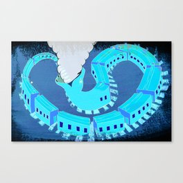 SNAKES OF IRON Canvas Print