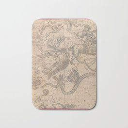 Burritt - Huntington Map of the Constellations or Stars in April, May and June (1856) Bath Mat