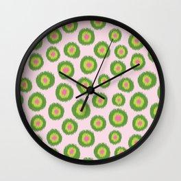 Candy is Dandy Ikat-Preppy colors Wall Clock