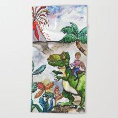 Dinosaur Rider Beach Towel