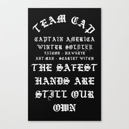 Team Cap YezzusInspired Canvas Print
