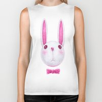 rabbit Biker Tanks featuring Rabbit by Lime