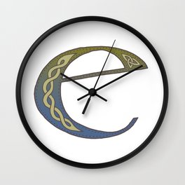 Celtic Knotwork Alphabet - Letter E Wall Clock