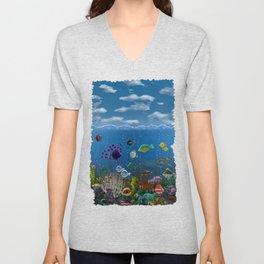 Underwater Love Unisex V-Neck