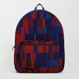 Red and Blue Digi Fractal Backpack