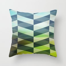 Herring Greens And Blues Throw Pillow