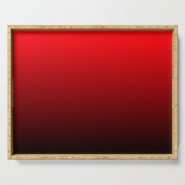RED BLACK Ombre pattern Serving Tray