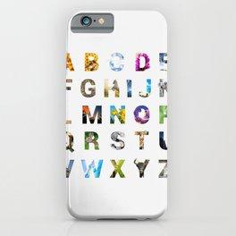 Nature Alphabet iPhone Case