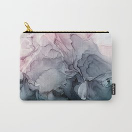 Blush and Paynes Gray Flowing Abstract Reflect Carry-All Pouch