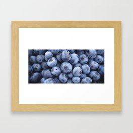 Beautiful juicy blueberry stack Framed Art Print