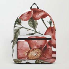 Red Floral Painting Backpack