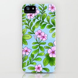 Chocolata floral pattern iPhone Case