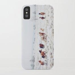Winter Horses iPhone Case
