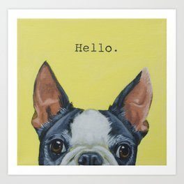 Hello. Art Print
