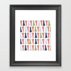 PAINT TRIANGLES Framed Art Print