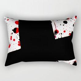 The Black Cross - Abstract Art Rectangular Pillow