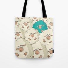 Sheep Pattern | Turquoise Tote Bag
