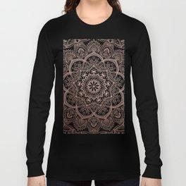 Lace Mandala - Rosegold Long Sleeve T-shirt
