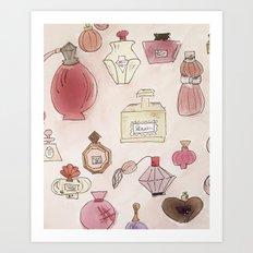 Pefume Collection Art Print