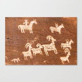 Cowboys and Bighorn Sheep Canvas Print