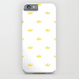Yellow Crown pattern iPhone Case