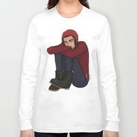 zayn Long Sleeve T-shirts featuring Comfy Zayn by Ashley R. Guillory
