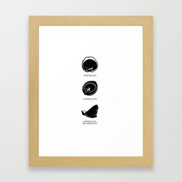Pasta Series: Tortellini, Cappelletti, Cappelacci del Briganti Framed Art Print