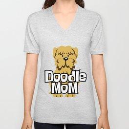 Female Goldendoodle Gift Womens Cute Golden Doodle Mom Print Unisex V-Neck
