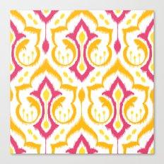 Ikat Damask - Berry Brights Canvas Print