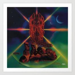 Space You&Me Art Print