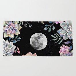 succulent full moon 4 Beach Towel