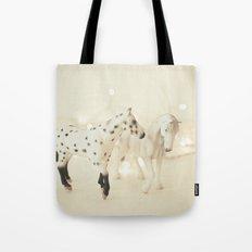 White Horses Tote Bag