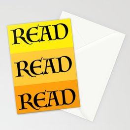 READ READ READ {YELLOW} Stationery Cards
