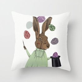 Hare-y Adventures 3 Throw Pillow