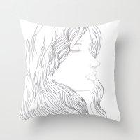 art nouveau Throw Pillows featuring Art Nouveau by YriArt