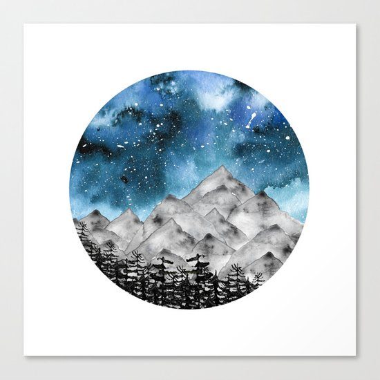 Forgotten Spaces ( Blue ) Canvas Print