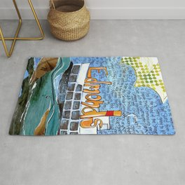 EDMONDS, WASHINGTON the town and the adventures by Seattle Artist Mary Klump Rug