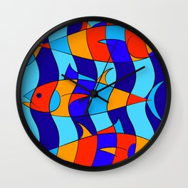 Elsebius - Tres Pescados Wall Clock