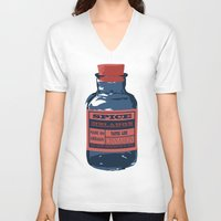 spice V-neck T-shirts featuring Spice Trade by Brady Terry