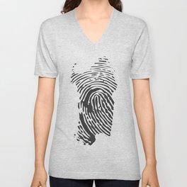 Sardinian fingerprint Unisex V-Neck