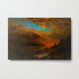 Twilight, Mount Desert Island, Maine by Frederic Edwin Church Metal Print