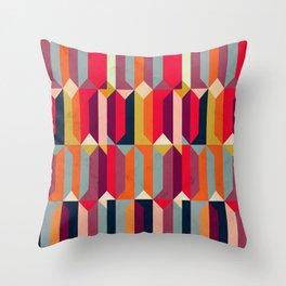Geometric Icelandic Colors Throw Pillow