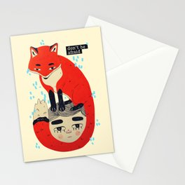 don't be afraid fox Stationery Cards