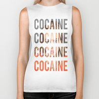 cocaine Biker Tanks featuring LINDSAY LOHAN - COCAINE by Beauty Killer Art