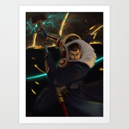 Jayce League of Legends Art Print