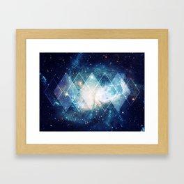Shining Nebula - Blue Framed Art Print