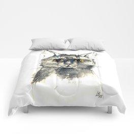 Pencil sketch of the black cat Comforters