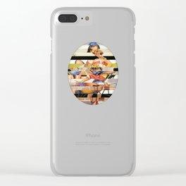 Glitch Pin-Up Redux: Gwen Clear iPhone Case