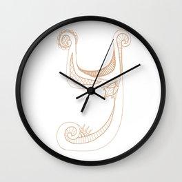 Fancy Y Wall Clock