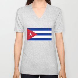 National flag of Cuba - Authentic version Unisex V-Neck